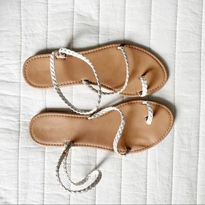White Braided Forever21 Sandals size 8